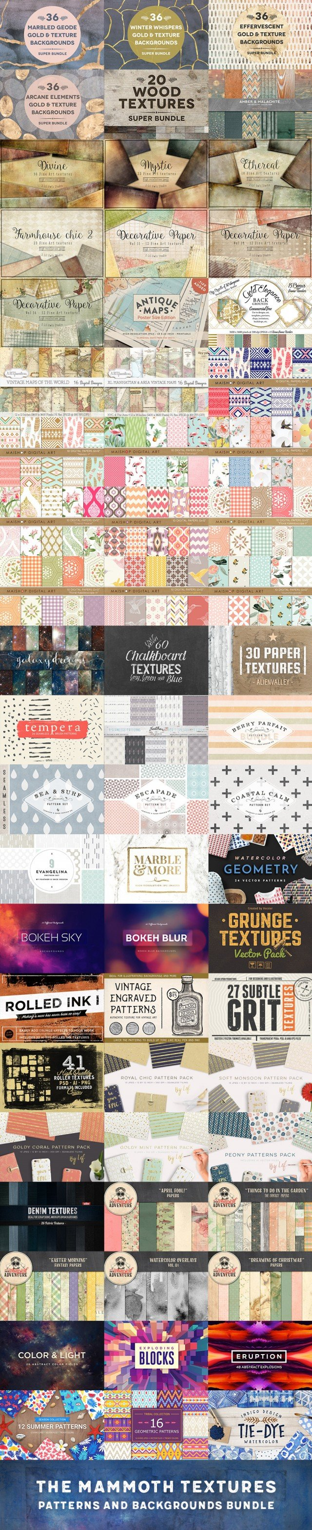 Professional Quality Textures, Patterns & Backgrounds
