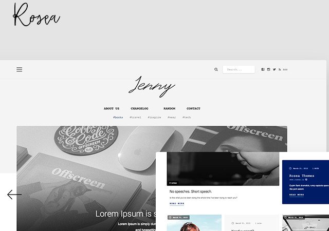 Rosea: Clean Tumblr PSD Template