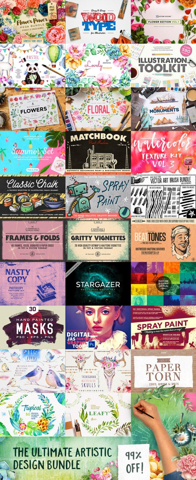 The Ultimate Artistic Design Bundle - 99% Off