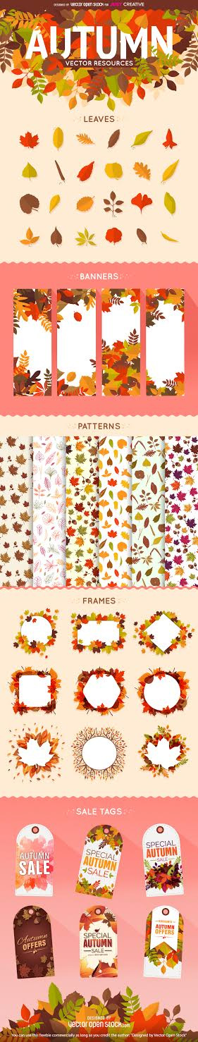 FREE Autumn / Fall Vector Bundle Download