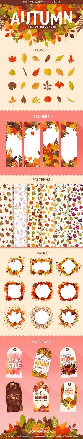 Autumn Fall Vector Freebie Bundle