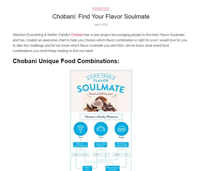Chobani Soulmate