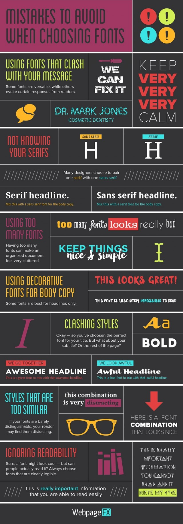 Mistakes Choosing Fonts Infographic