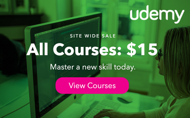 SALE All Udemy Online Courses Just $15