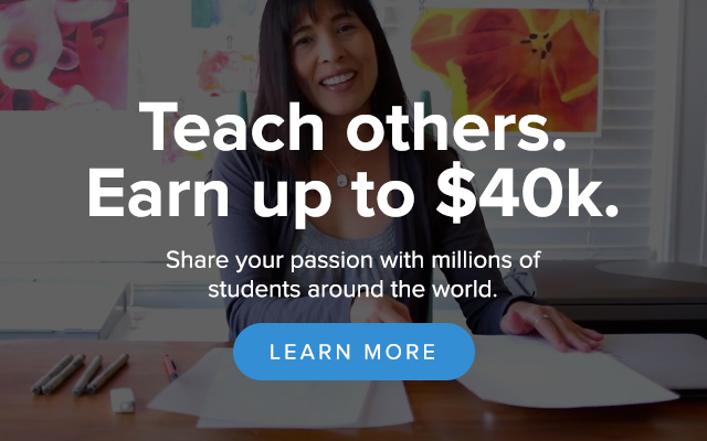 Teach on Skillshare