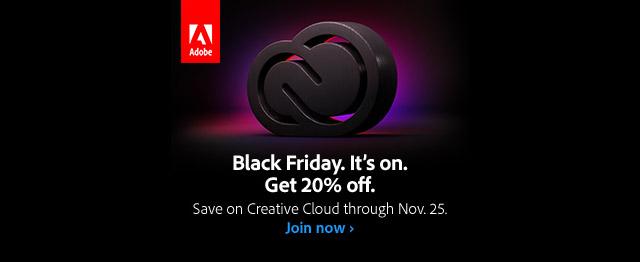 Adobe CC Black Friday Sale