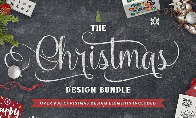 The Christmas Design Bundle - 900 Holiday Design Elements for $34 (94% Off)