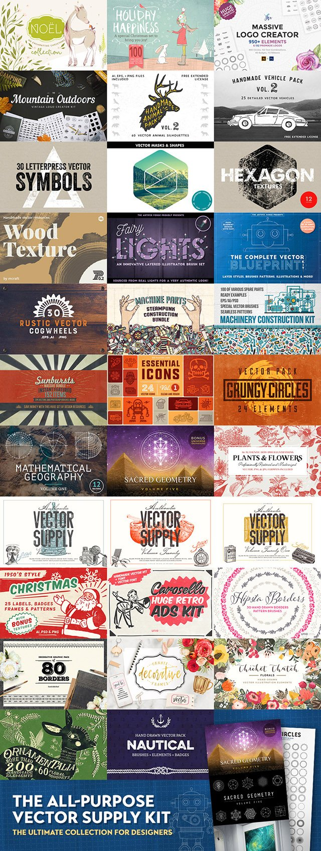 The Ultimate Collection Of Vectors For Designers - 99% Off