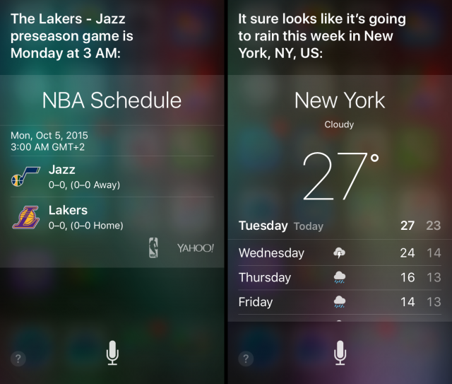 Siri Voice Interface