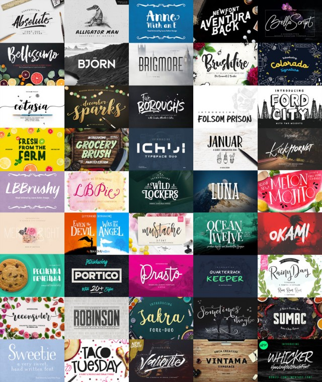 50 Fresh Fonts for 2017