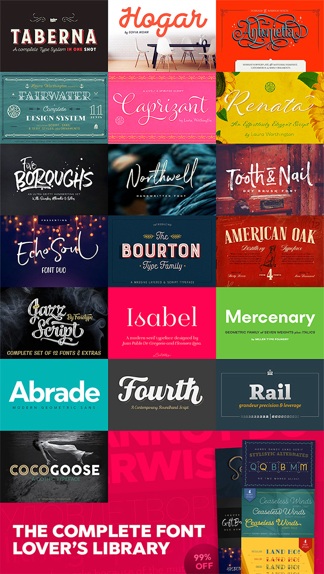 The Complete Font Lover's Library - 99% Off