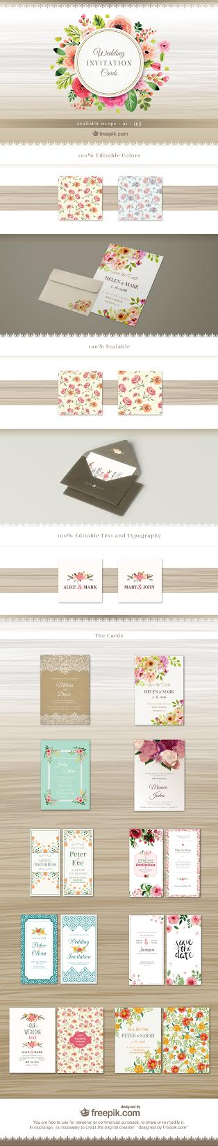 FREE Wedding Invites Vector Pack Download