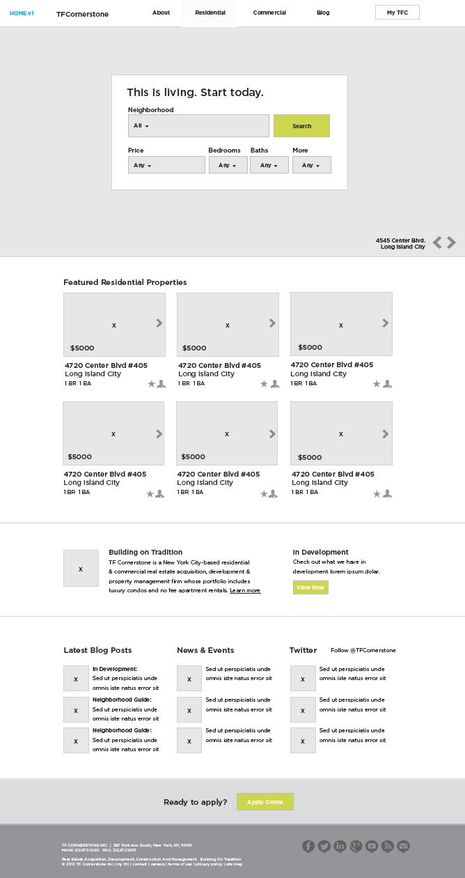 TFC Website Wireframes
