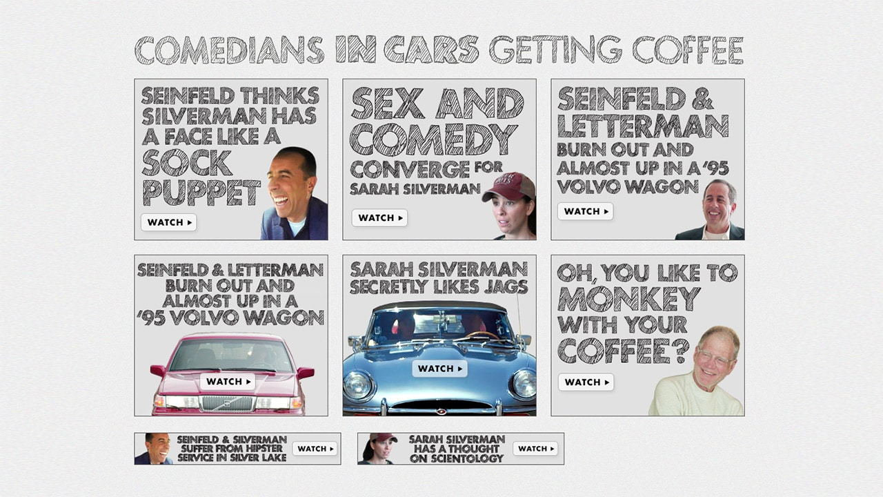 Comedians In Cars Getting Coffee Ads