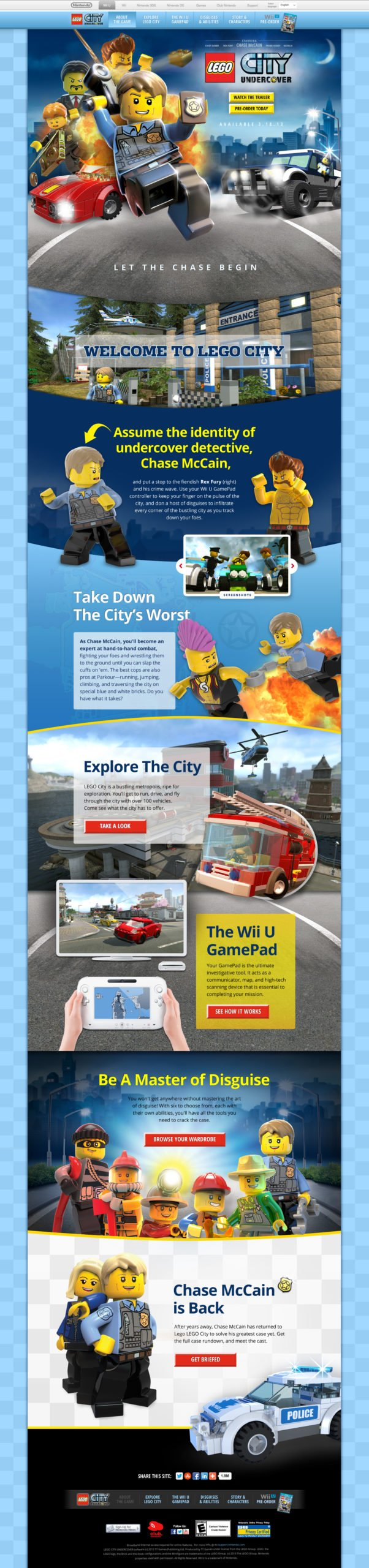 Lego City Undercover Website