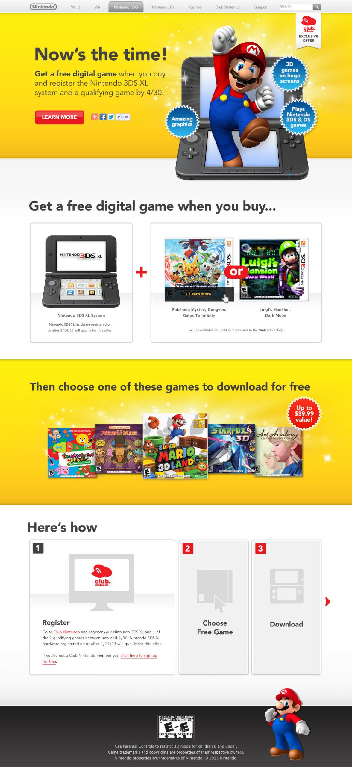 Club Nintendo Website