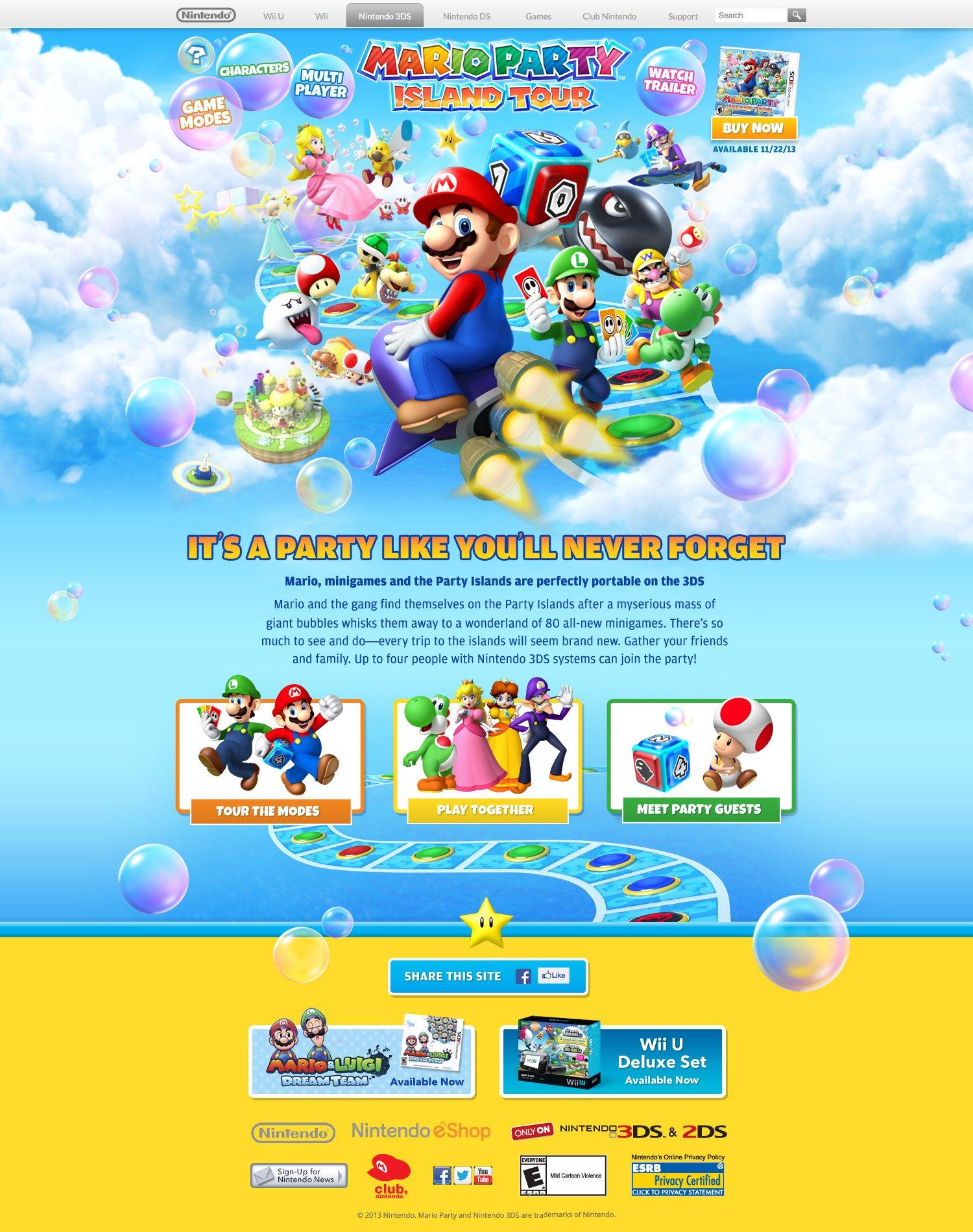 Mario Party Website