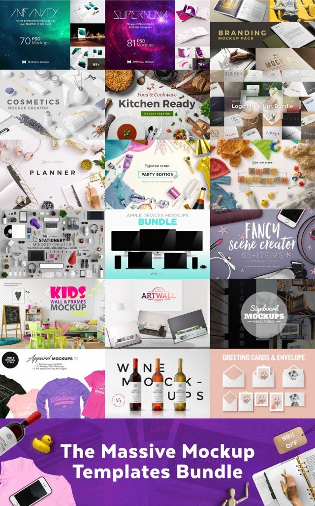 The Massive Mockup Templates Bundle, 97% Off