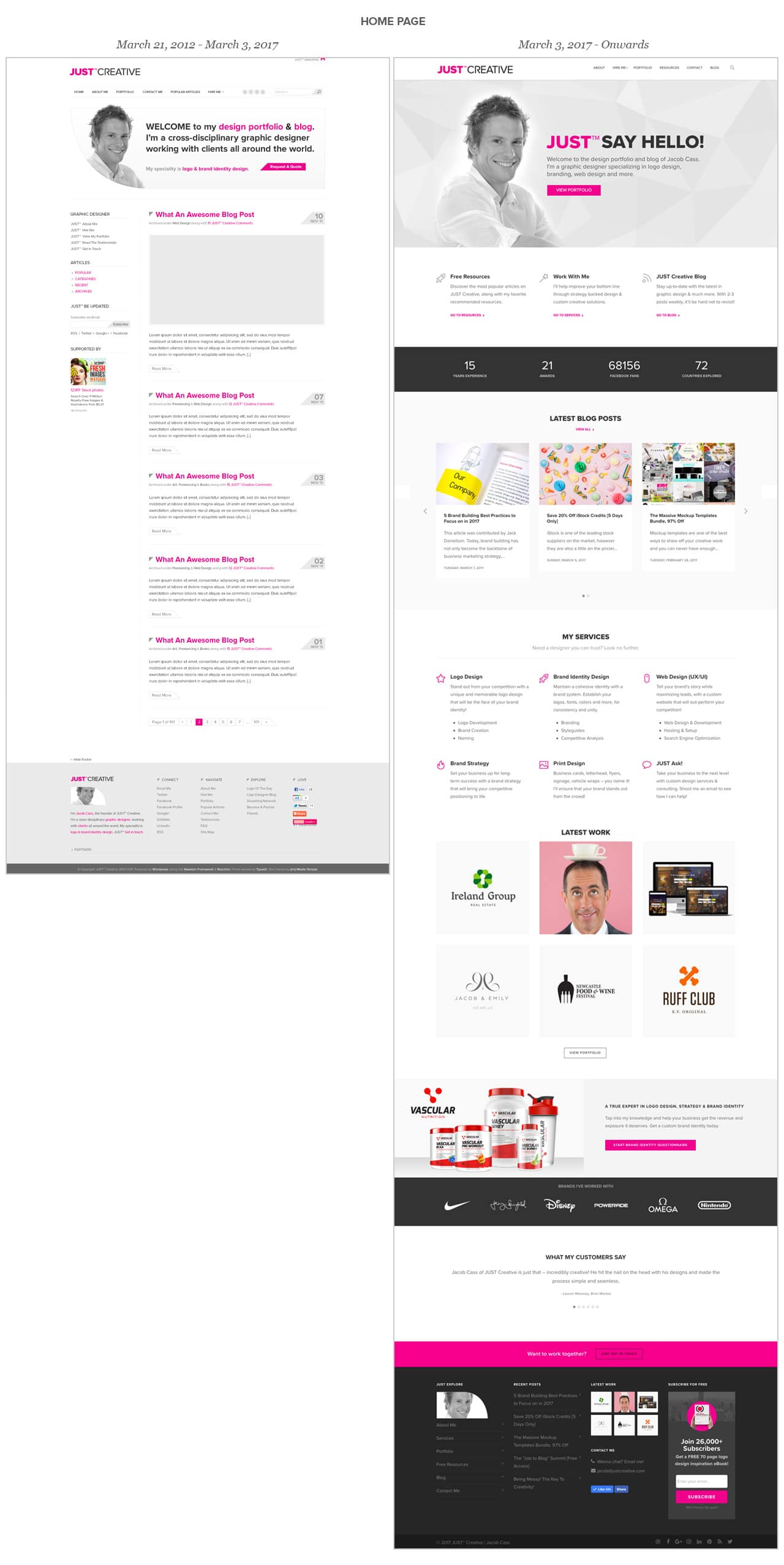 Just Creative Web Home Page