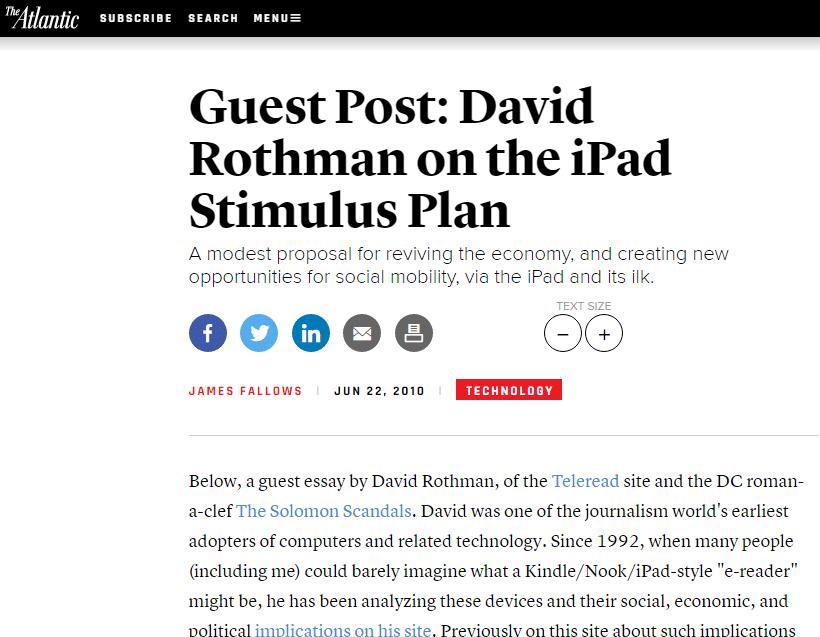 Atlantic Guest Post