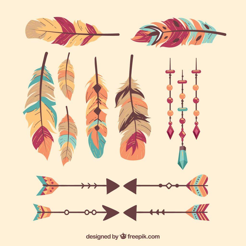 Freebie: Boho Chic Vectors (Feathers, Dreamcatchers & More)