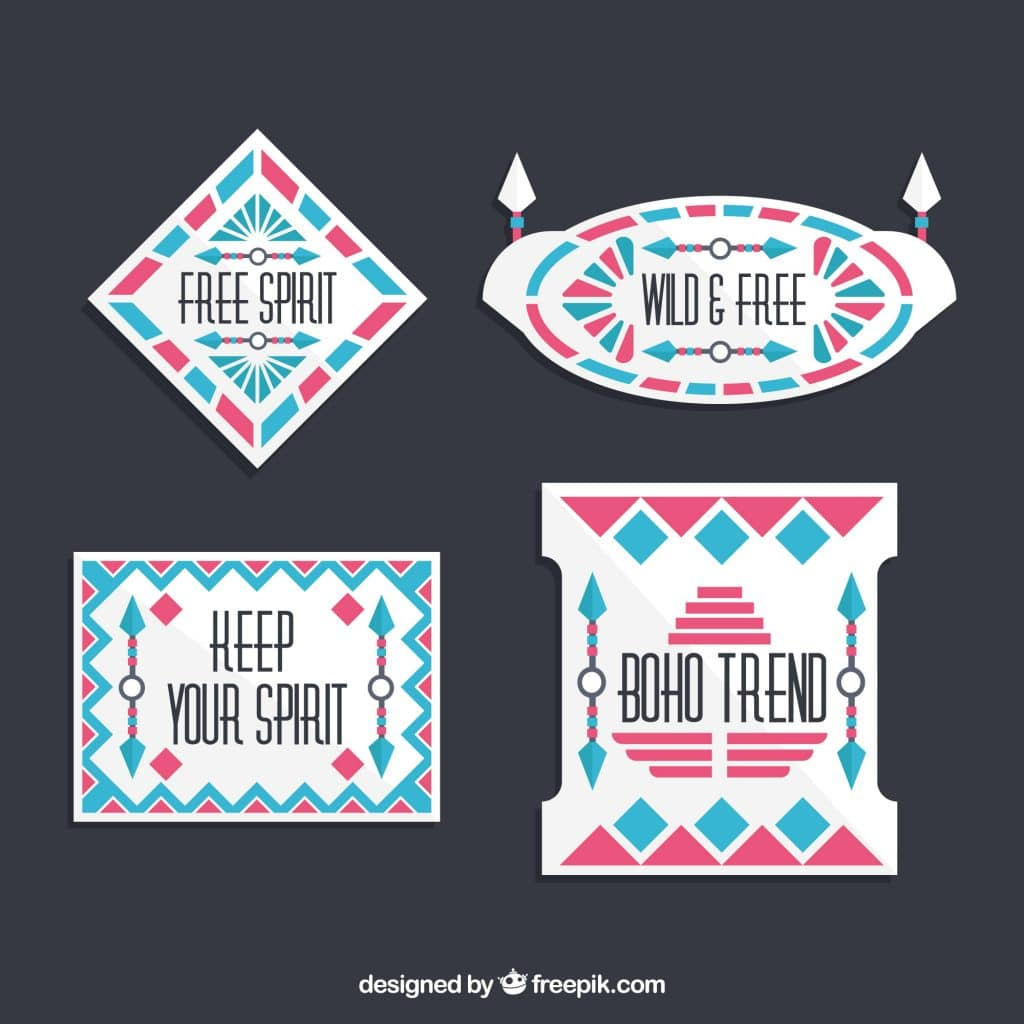 Boho Style Stickers