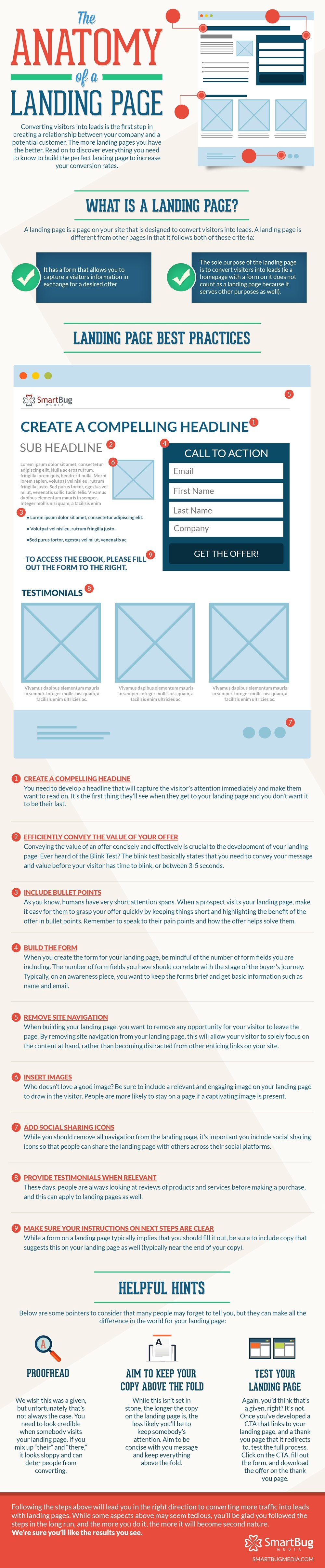 Anatomy of Perfect Landing Page Infographic