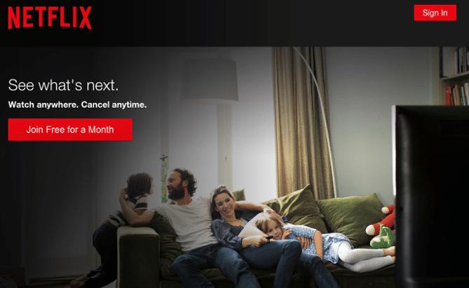 Netflix Landing Page Design