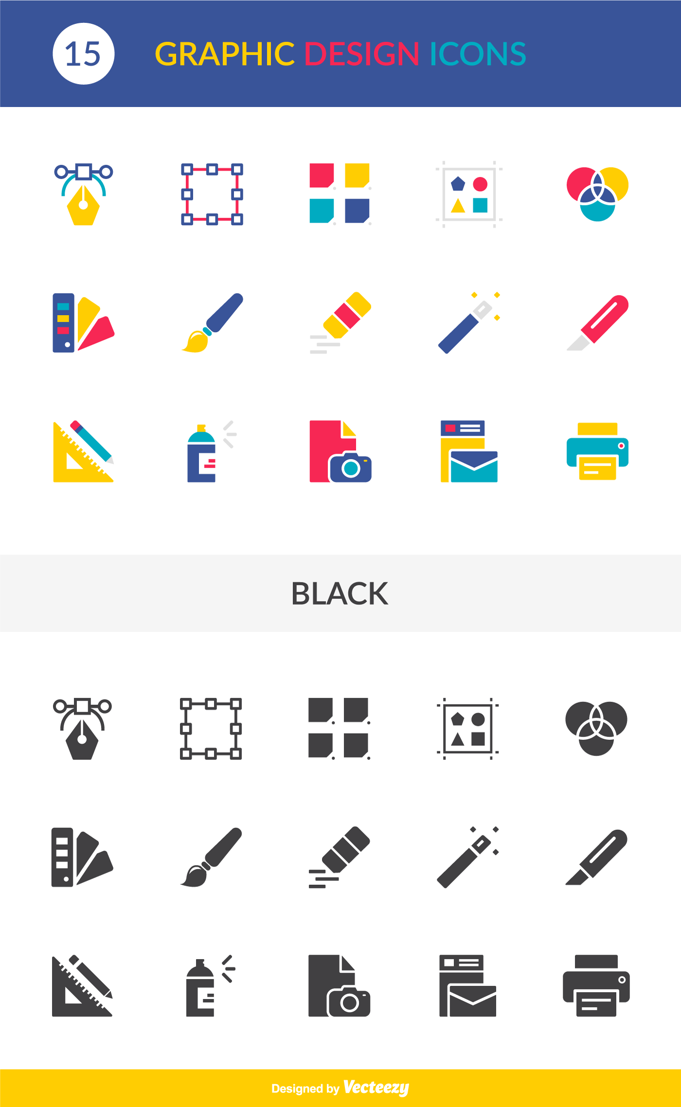 Free Graphic Design Icons EPS Vector Pack