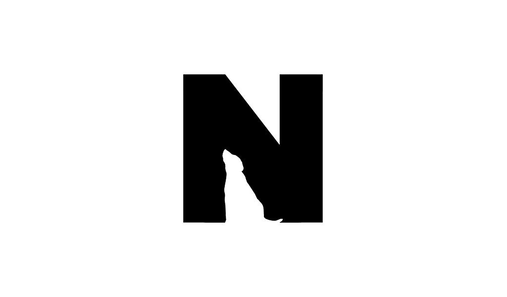 Negative Space Logo N