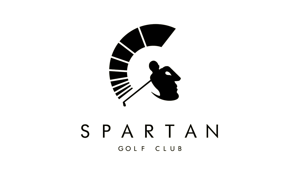 negative space logo spartan