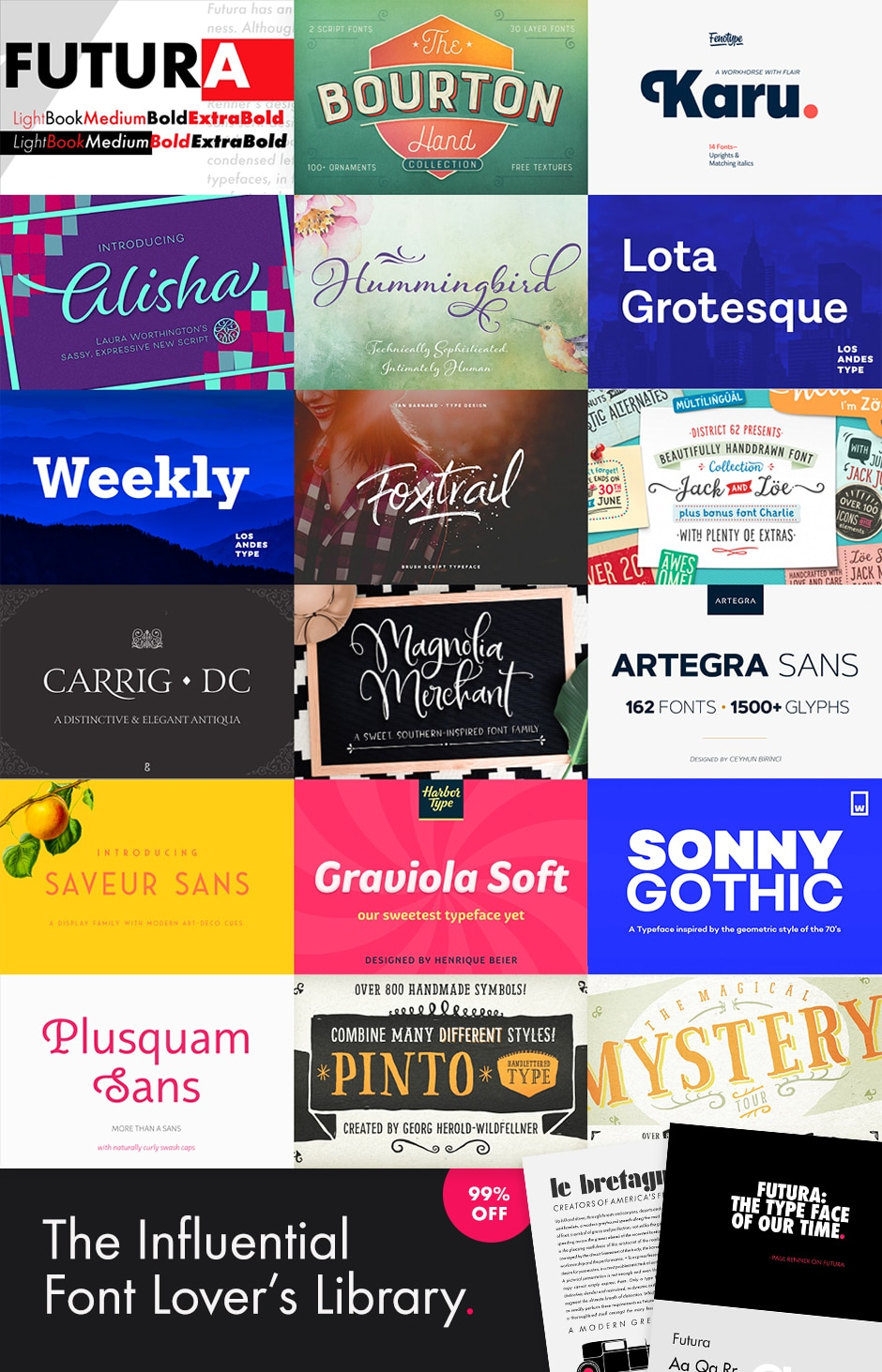 Save $3465 on The Influential Font Lover's Library | JUST™ Creative