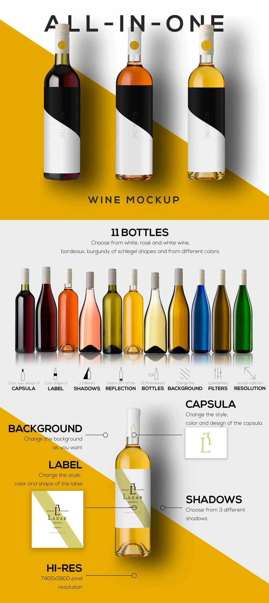 Wine Mockups