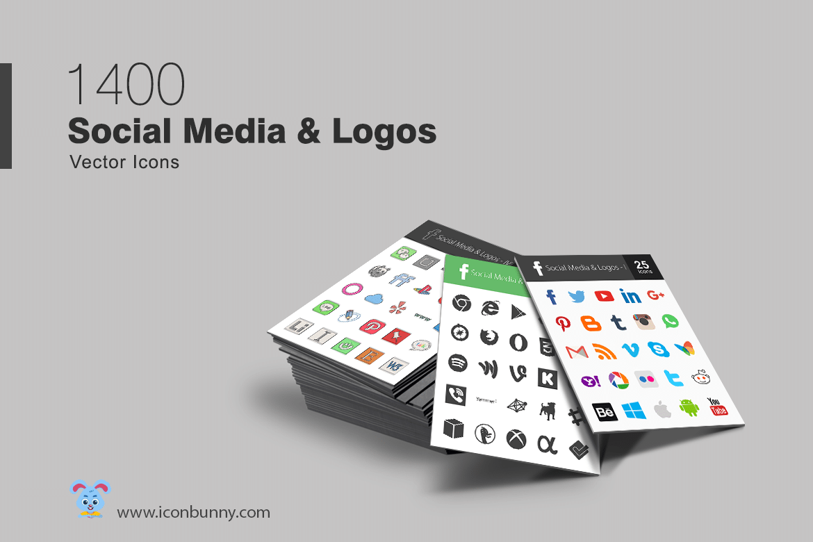 FREE Social Media and Payment Methods Icon Sets - 2100 Icons, in 14 different styles!
