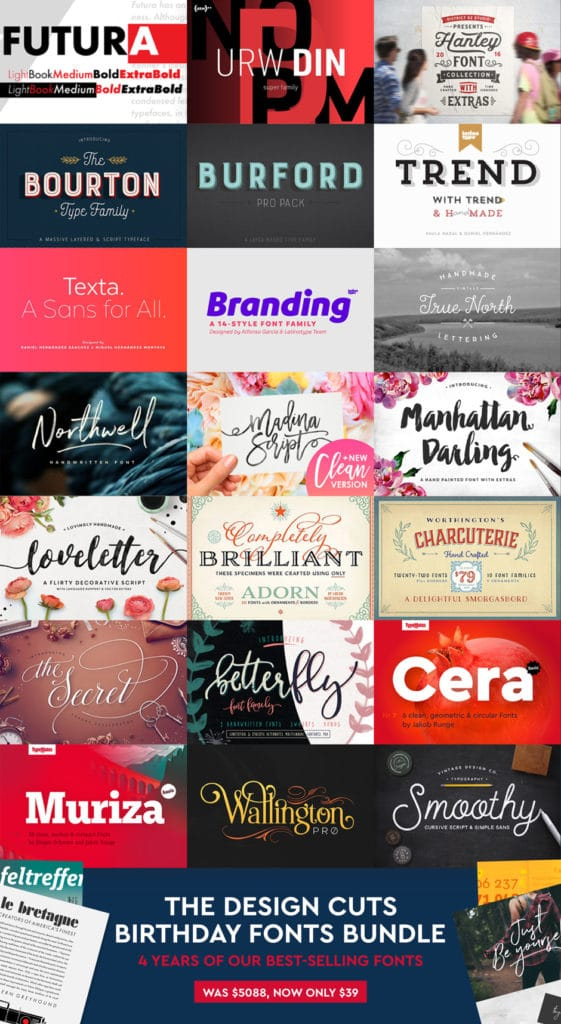 Best Selling Fonts