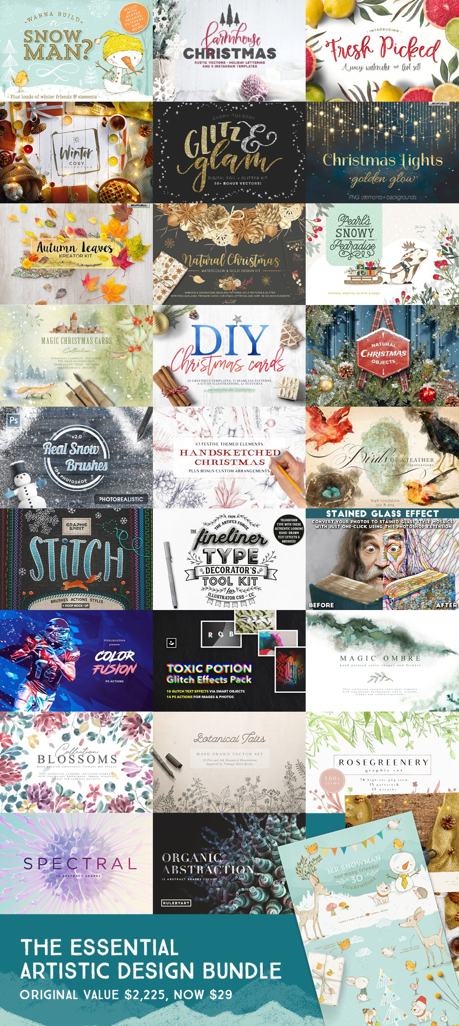 The Essential, Artistic Design Bundle (99% Off)  Festive Goodies