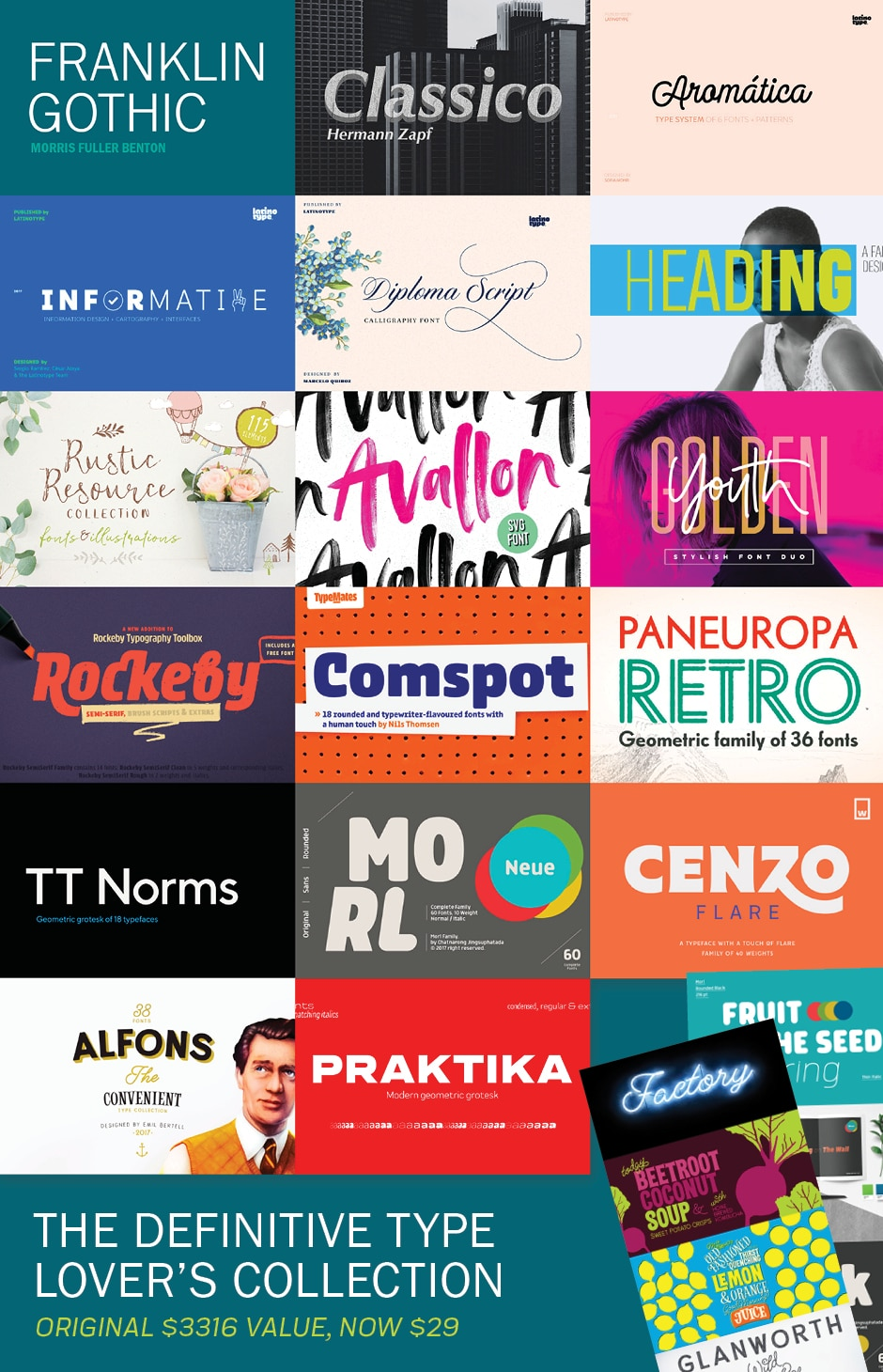 The Definitive Type Lover`s Collection - JUST $29