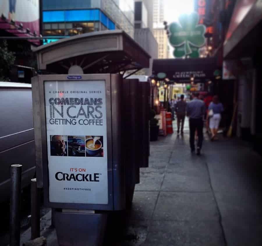 Comedians in Cars Getting Coffee Billboard