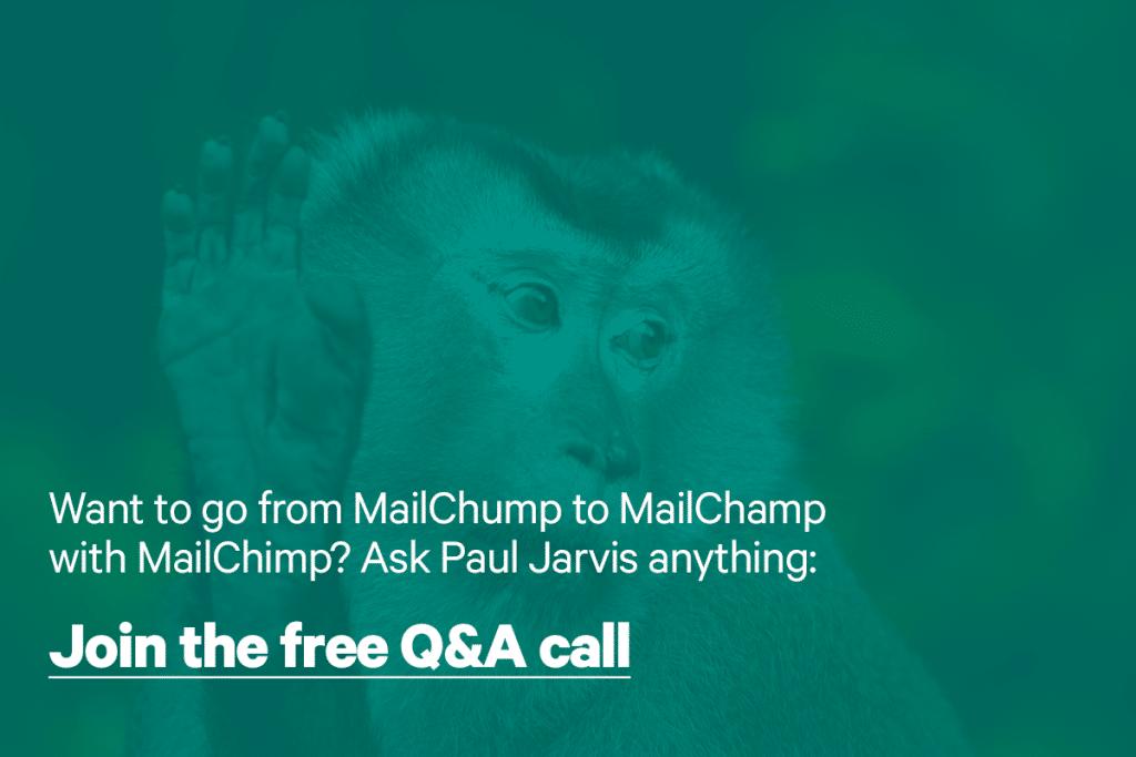 Mailchimp q&a with Paul