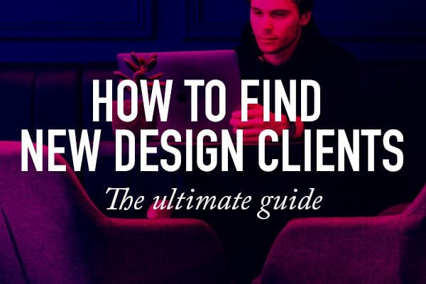 how to find new design clients