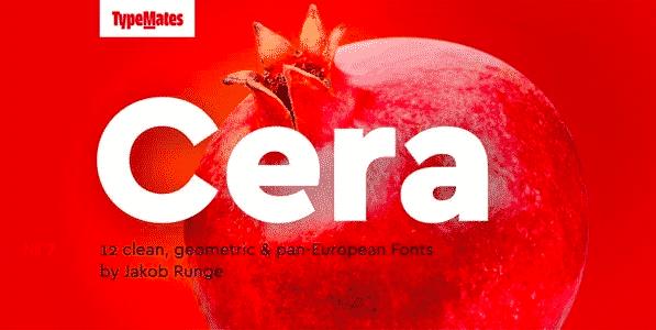 The Cera Font