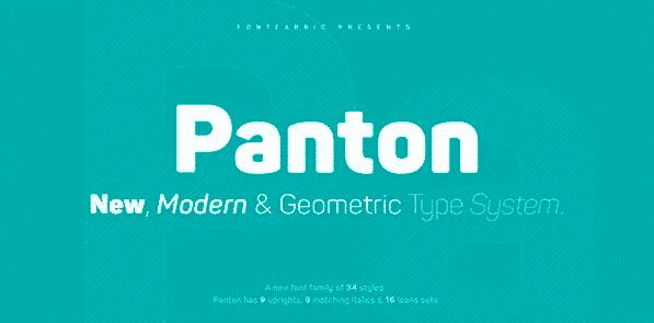 The Panton font