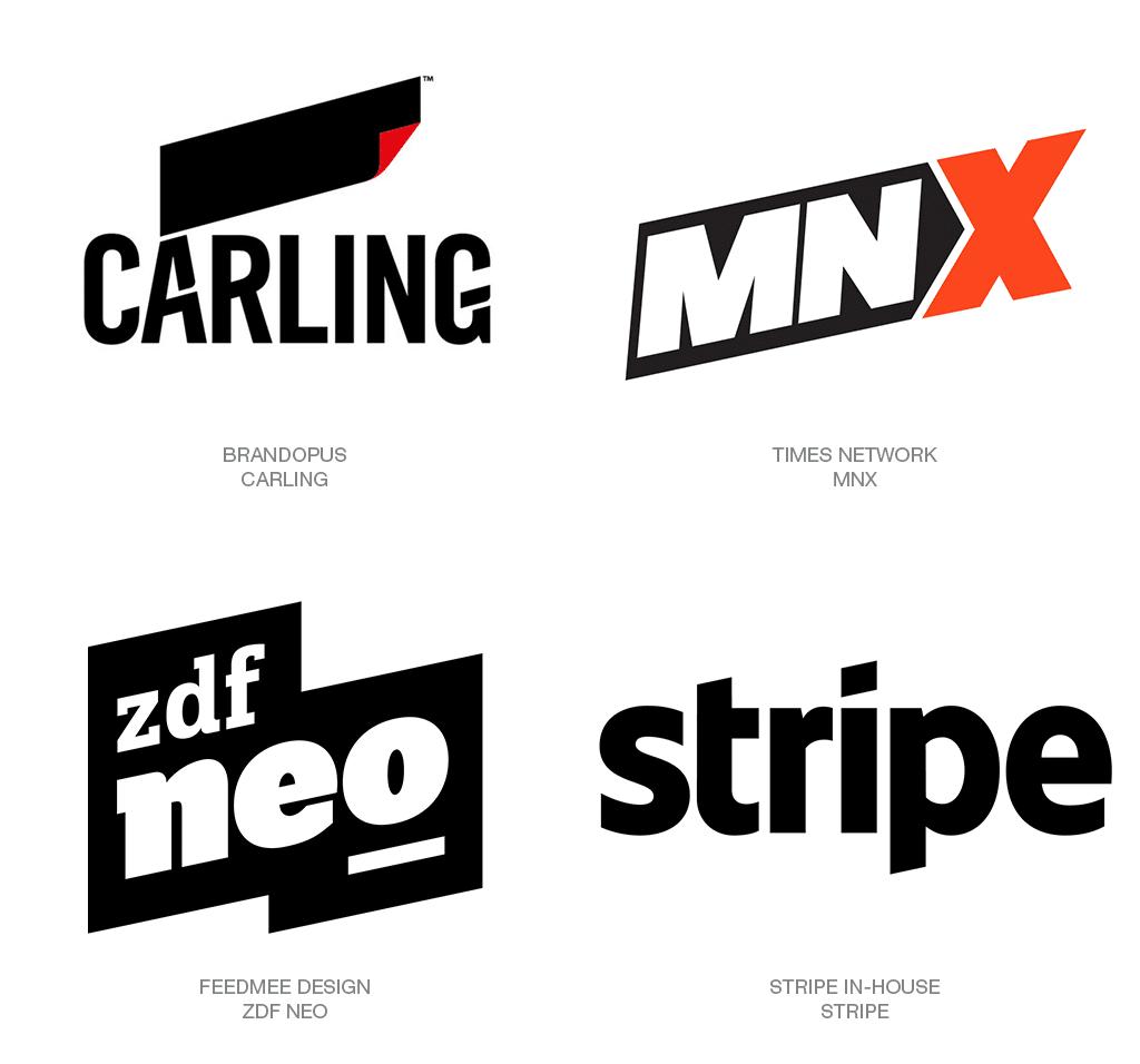 Logo Design Trend 2018: Parallelogram
