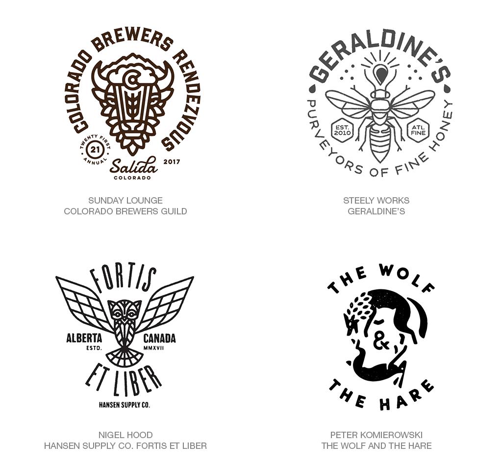 Logo Design Trend 2018: B&W hipster
