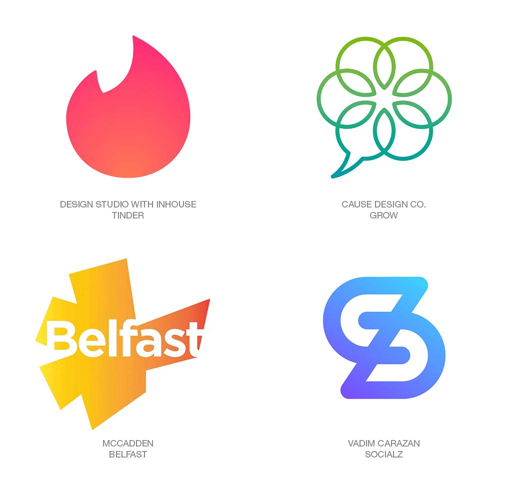 Logo Design Trend 2018: Blurple