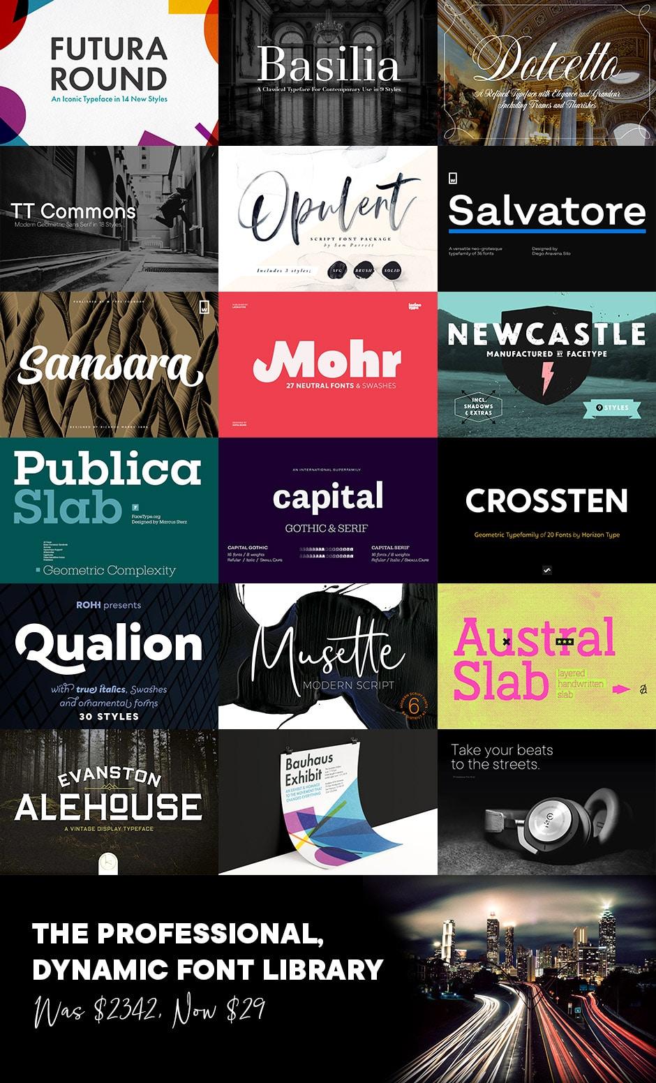 Dynamic Font Bundle