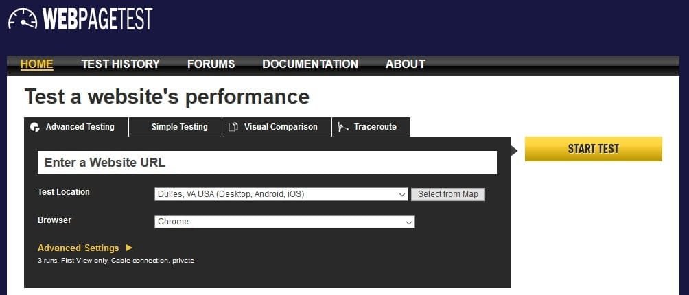 Web Page Testing