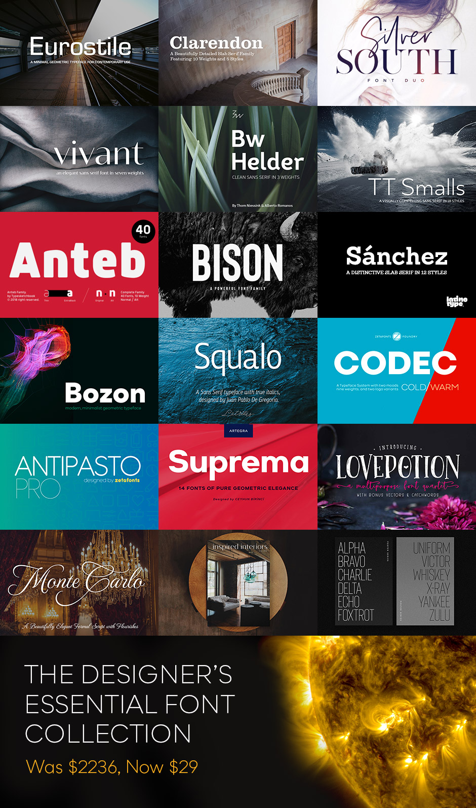 Designers Essential Font Collection