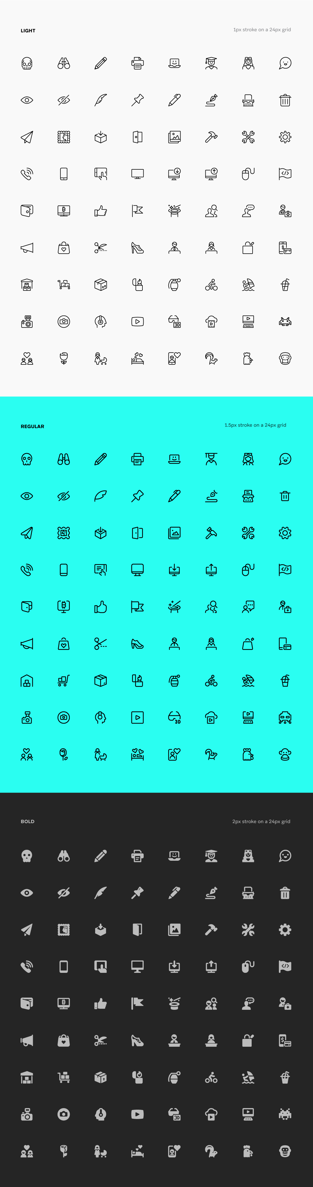 Streamline Icons All 3 Weights