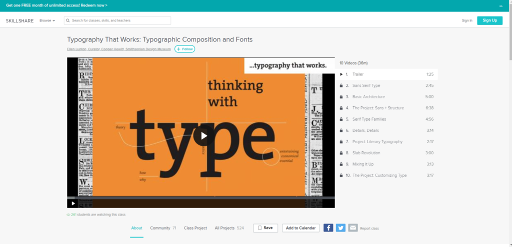 Free Typography Course